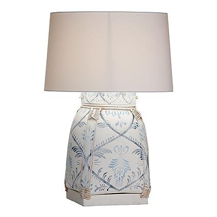 Amazon.com: Ethan Allen Jasmine Azul Lámpara de mesa de ...