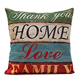 Hangood Cotton Linen Throw Pillow Case Cushion Covers Cover London Style 18 x 18 inches