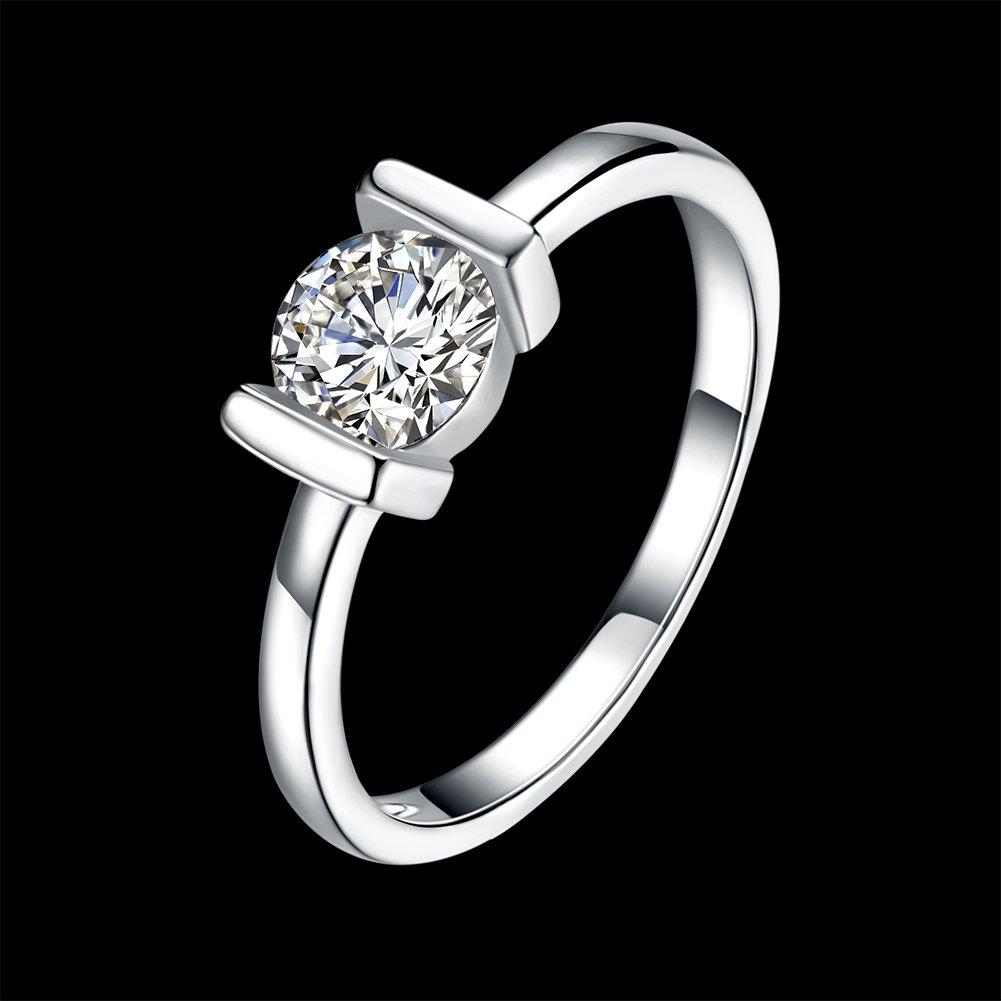 anillo de regalo de boda elegante de moda Anillo de compromiso con diamantes de imitaci/ón y joyer/ía rom/ántica para hombres y mujeres elegante