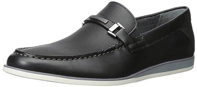 Mens Calvin Klein Kiley Loafers White Emboss Leather ELO18114