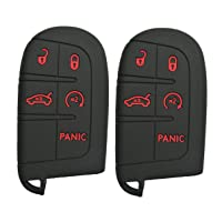Alegender Qty(2) 5Btn Smart Key Fob Cover Case Protector for Jeep Grand Cherokee...