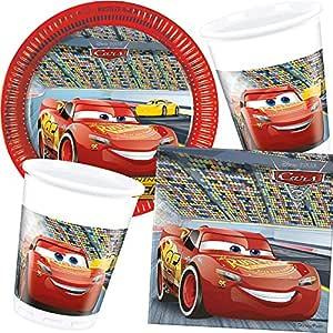 37 piezas Party * Cars III * con plato + taza + Servilletas ...