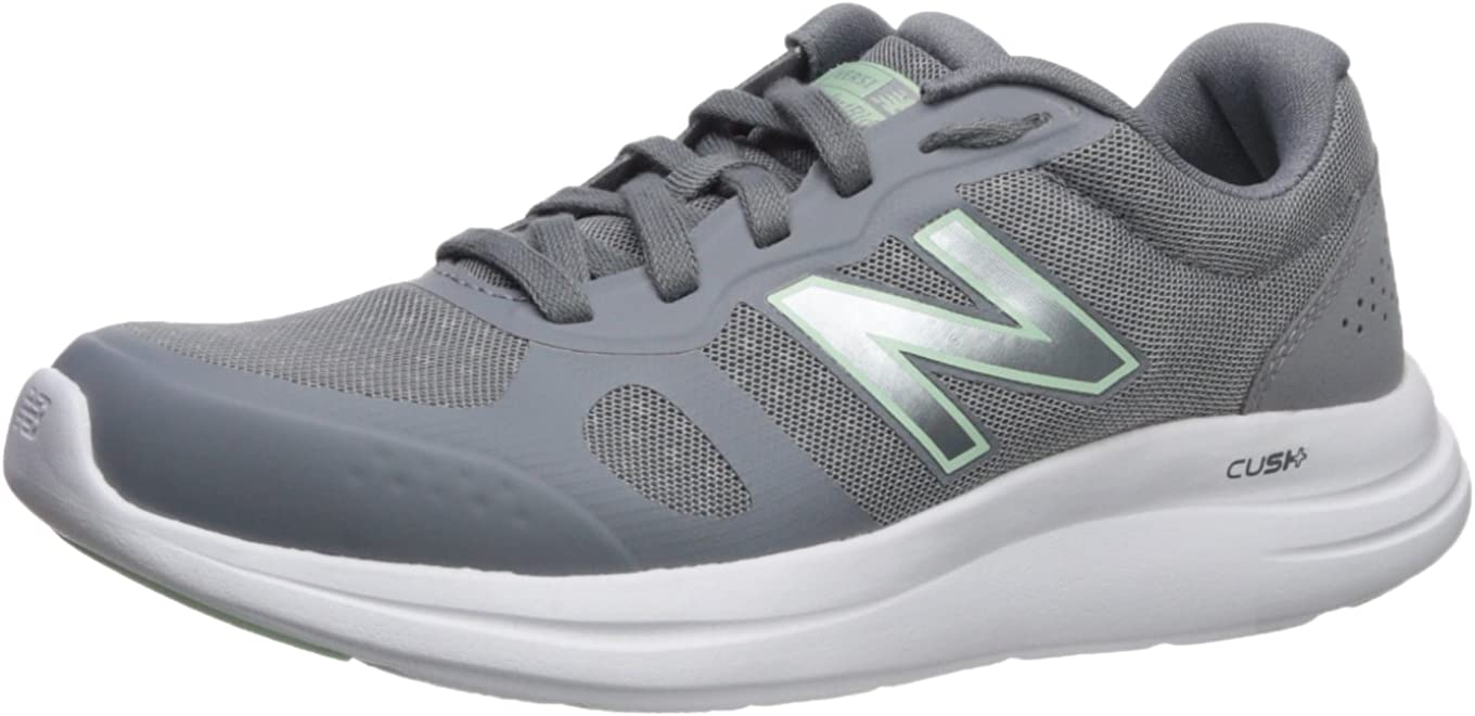 New Balance Women s Versi v1 Cushioning Running Shoe, Steel, 5.5 E US