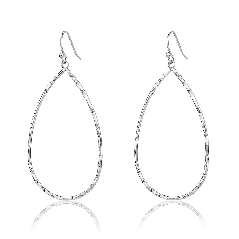 Pomina Lightweight Textured Open Teardrop Earrings