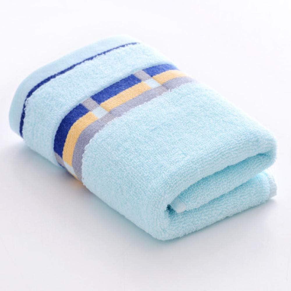 HXOUDAN Toalla de algodón Grueso de 34x74cm Toalla de baño Absorbente de Agua Toallas de Ducha de Cara de Mano Baño de casa Hotel 1pc Azul