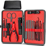Manicure Set, 18 in 1 Nail Clippers Set, Stainless Steel Manicure Set Nail Scissors, Portable Nail Clipper Tools…