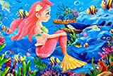 Chusea Interesting Wooden Jigsaw Creative Wooden Educational Puzzle Early Learning Story Animal Toy Fantastic Gifts For Kids(Mermaid)