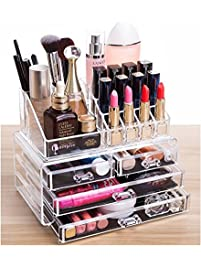 Cq Acrylic 4 Drawers And 16 Grid Makeup Organizer With Cosmetic Storage  Cases, The Top Part 69