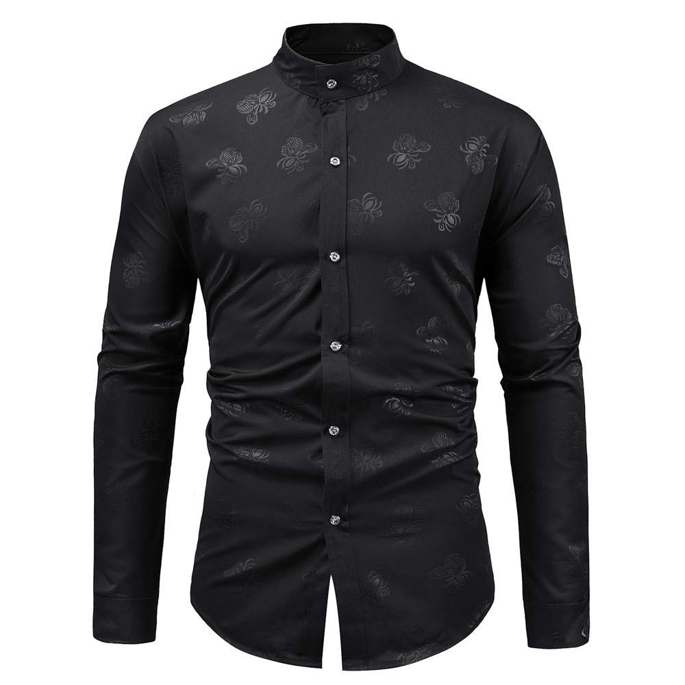 Men Shirts Long Sleeve/♥ Men/'s Long Sleeve Autumn Winter Painting Large Size Casual Top Blouse Shirts