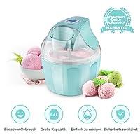 iSiLER Eismaschine mit 1,4 L Fassungsvermögen für 5-6 Personen, Ice Cream Maker, Automatischer Frozen-Yogurt-/Eiscreme-/Speiseeisbereiter mit LCD-Display & Digitaltimer und Rezeptvorschlägen