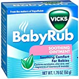 : Vicks BabyRub Soothing Chest, Neck and Back Ointment 1.76 Ounce
