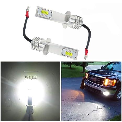 WLJH 2 Pack 72 W de alto brillo H1 LED Bombillas antiniebla Canbus Error Free 6500K