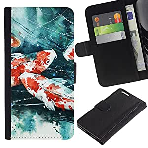 """A-type (Pintura del cangrejo de río"""") Colorida Impresión Funda Cuero Monedero Caja Bolsa Cubierta Caja Piel Card Slots Para Apple (5.5 inches!!!) iPhone 6+ Plus / 6S+ Plus"""
