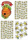 Eureka 100 Days of School Beehive Bulletin Board Sets