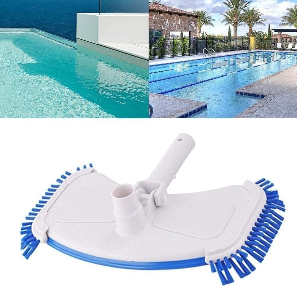 Swimming Pool Cleaning With Bottom Brush Pool Vacuum Cleaner Suction Head Set