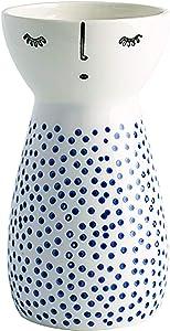 Senliart White Ceramic Vase, Small Flower Vases for Home Décor, 5.9 X 3.2 (Polka Dot)