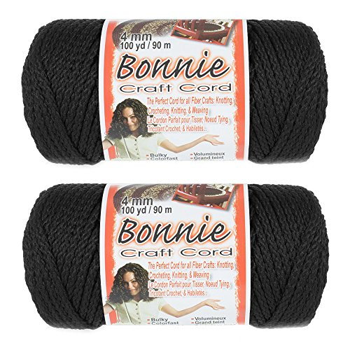 2 Pack Bonnie Macramé Cord - 4mm - 100 yd Lengths - Various Colors