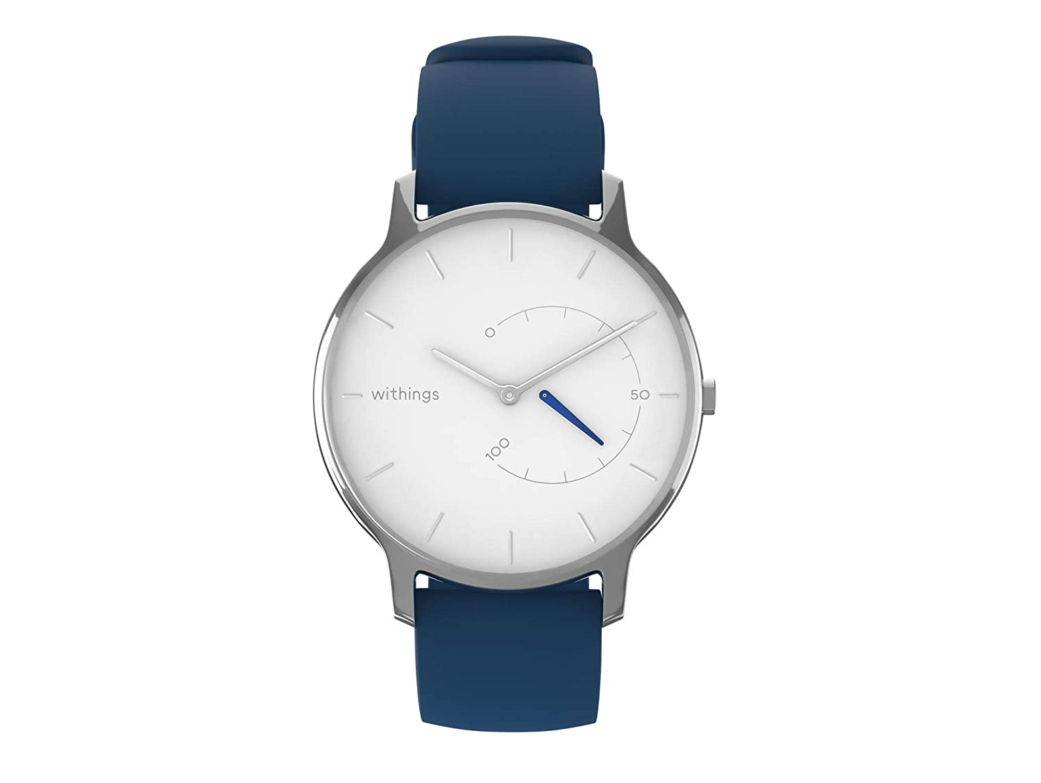 WITHINGS Move Timeless Chic - White Blue Silicone
