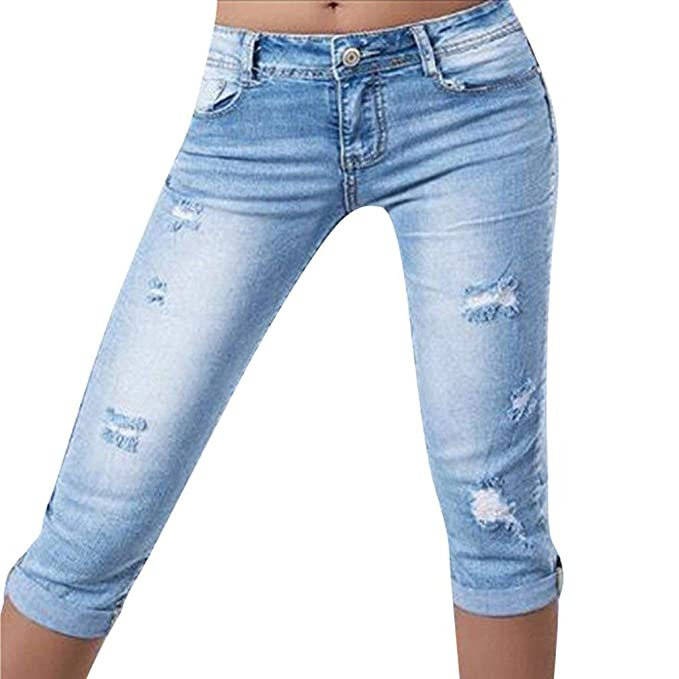 Mujeres Verano Slim Fit Pantalones Casuales Color Sólido ...