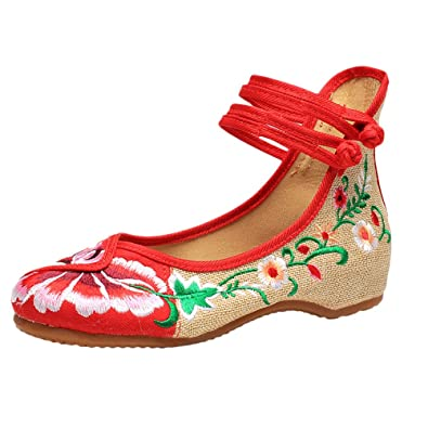 Zhhlinyuan Fashion Hand Embroidery Shoes Women Chinese Style Casual Shoes Hot G8GHK5