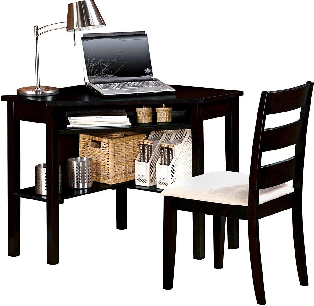 Amazon.com: ACME 00518 Naco 2 Piece Pack Corner Desk And Chair, Black  Finish: Kitchen U0026 Dining