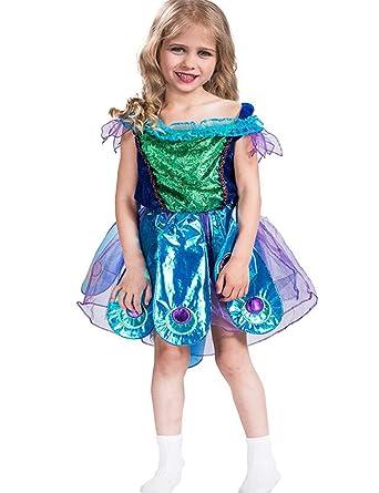 A&J DESIGN - Disfraz de Pavo Real para niña con tutú y Diadema ...
