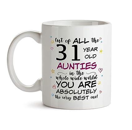 31st Auntie Birthday Gift Mug