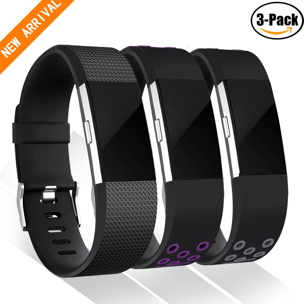 Geak Fitbit Charge 2バンド、Special Edition交換用バンドfor Fitbit charge2 Large Small 12異なる色 B074RGM5NN Small|Black Series Black Series Small