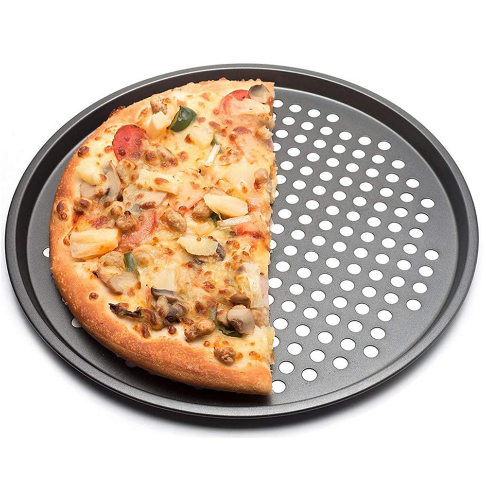 Plateau de pizza de plat de cuisson de plats /à la maison de plat noir en acier au carbone antiadh/ésif