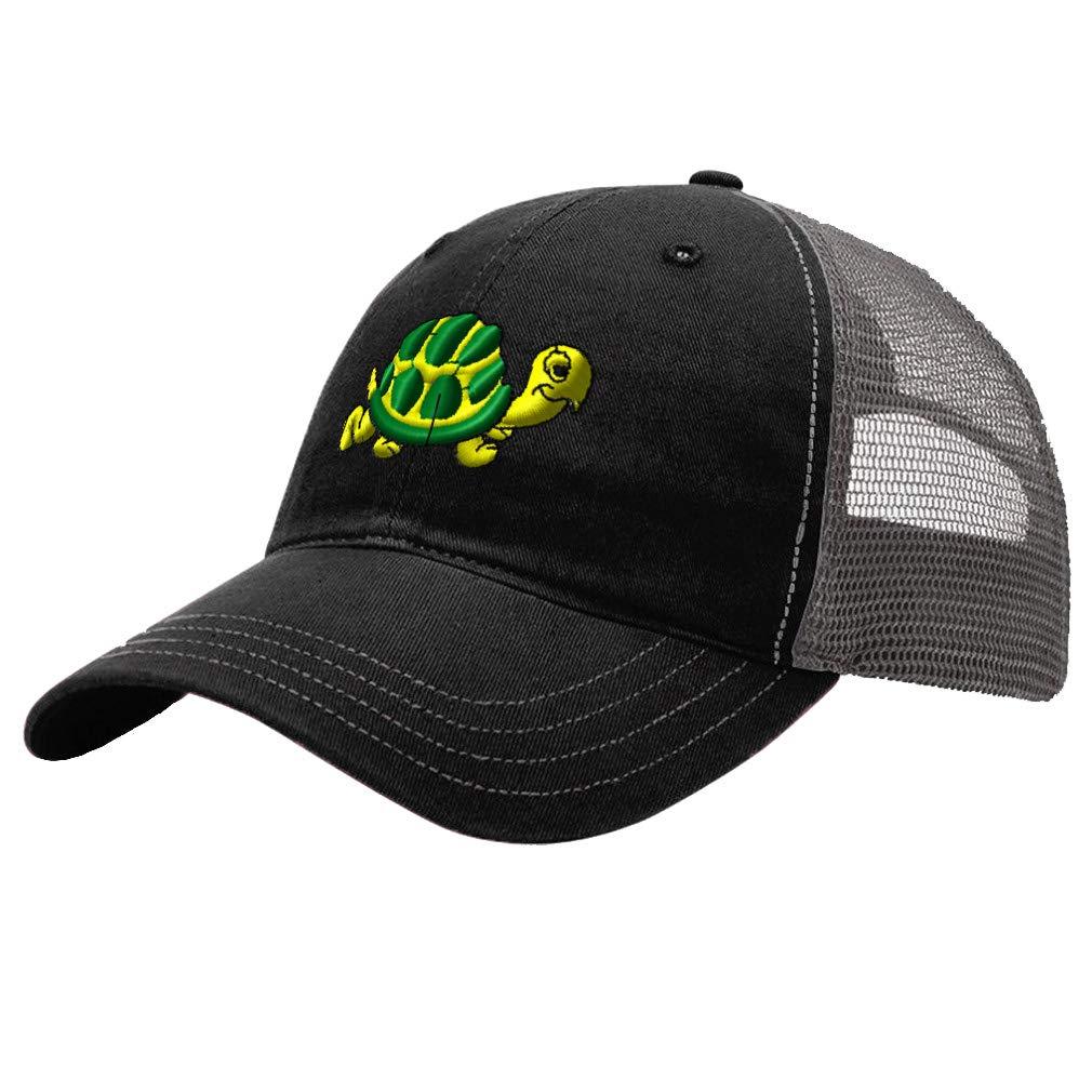 Custom Trucker Hat Richardson Yellow Turtle Embroidery Animal Name Cotton Snaps