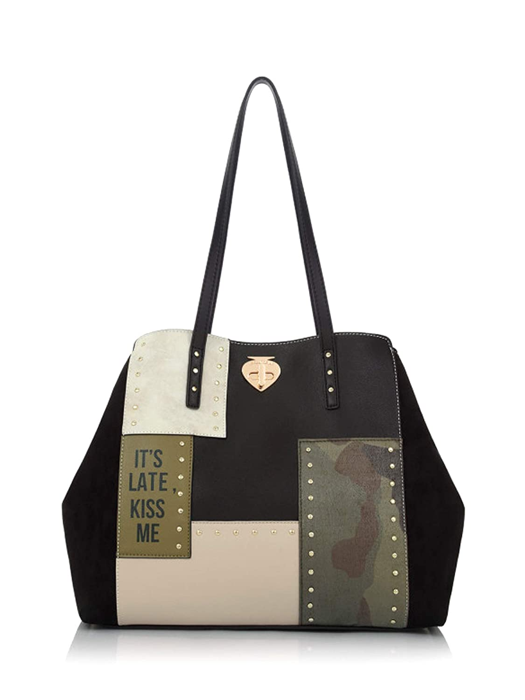 Le Pandorine Patch Bag Kiss Borsa Shopping Poliuretano