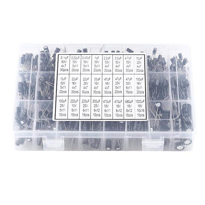 PACK OF 5 5 x 0.47UF 50V ALUMINIUM ELECTROLYTIC CAPACITORS 105C 4mm x 7mm
