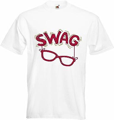 T-Shirt Camiseta Remera Swag Nerd vidrios del Friki Nerdbrille Videojuegos Liga CAMPEONES Juegos de vídeo Friki LANPARTY en Blanco: Amazon.es: Ropa y accesorios