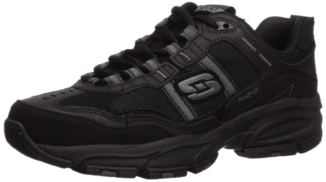 Skechers Sport Men's Vigor 2.0 Trait Memory Foam Sneaker, Black, 12 M US by Skechers