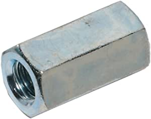 12 Pack 3//8-24 X 1-1//8 Long Fine Thread Hex Coupling Nut with Zinc Plate