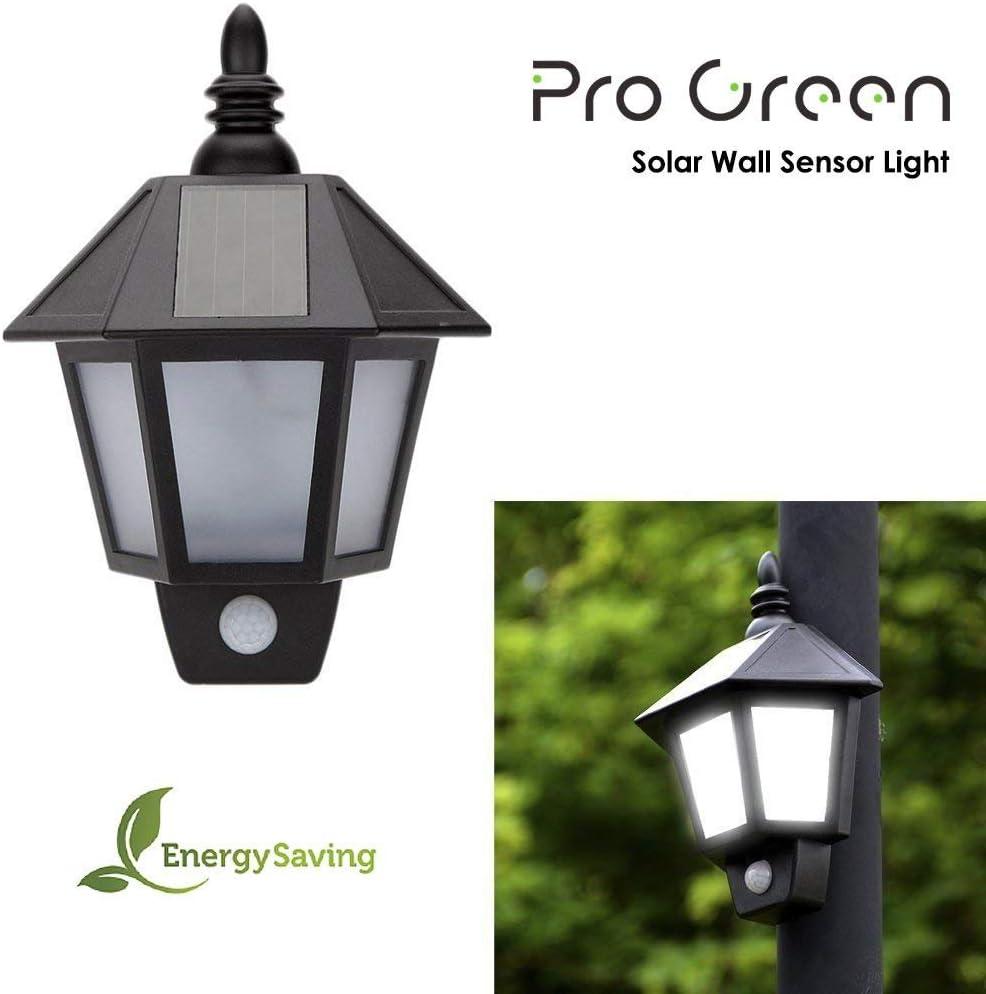 ProGreen Lámpara Solar, Lámpara Solar Retro, IP65 Impermeable, PIR Sensor de Luces Humana, Luces Solar para Jardín, Terraza, Cámping Patio, Villa, etc: Amazon.es: Iluminación