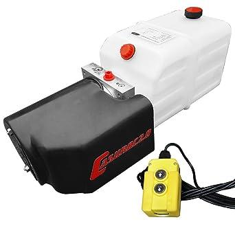 Hydraulikpumpe 12 V 180 bar 2000 Watt mit 7 Liter Tank Hydraulikaggregat Casuroc 2.0
