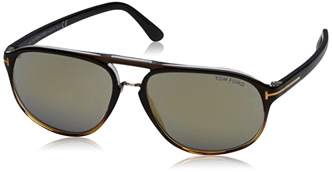 4fa75085cec Image Unavailable. Image not available for. Color  Tom Ford Sunglasses TF  447 Jacob Sunglasses 52B Tortoise 60mm