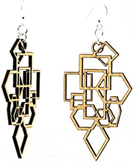 product image for Green Tree Jewelry Diamond and Square Earrings, Made in The USA
