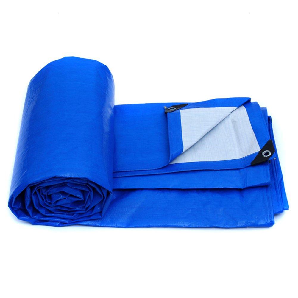 CHAOXIANG オーニング 防水 アンチサン 霜の保護 老化防止、 防塵の 軽量 PE、 155g/m 2、 厚さ 0.28mm、 9サイズ 利用可能な、 カスタマイズ可能なサイズ (色 : 青, サイズ さいず : 7x5m) B07D313TD6 7x5m|青 青 7x5m
