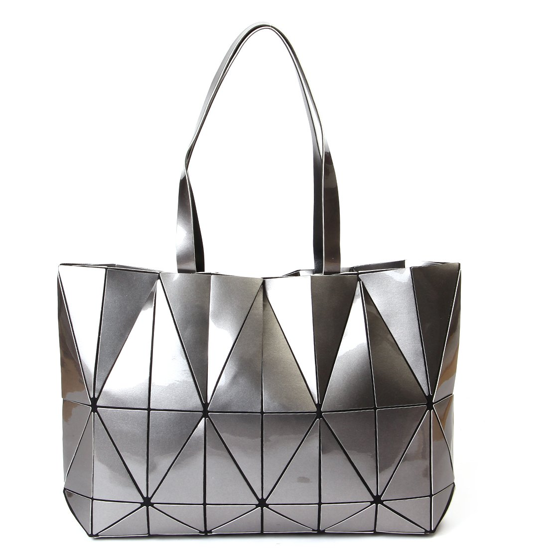 KAISIBO Unique Design Geometric Lattice Handbag Totes Purses for Women(K3138SR)