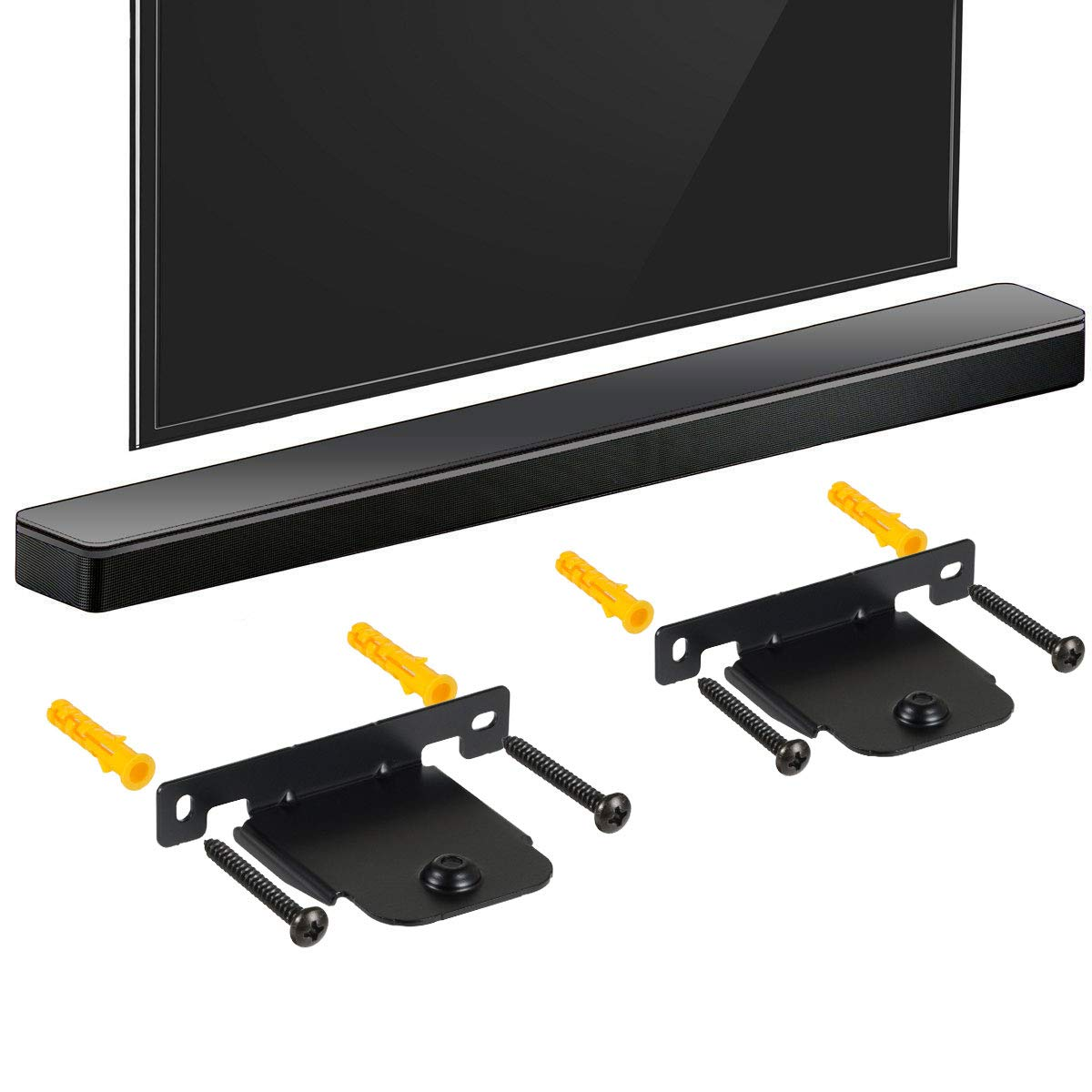 ECLINK Soundbar Wall Brackets for LG SH4 SJ4R SJ4 SK4D SJ5B SH8 SJ8S SH5 HS7 SJ6 LAS455H NB5540//S54A1-D NB4540//S44A1-D NB4542DEUSLLF LAS551H S55A1-D LASC55 with Screws