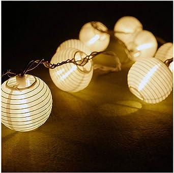 Cadena de luces LED solares de bloatboy, para exterior, jardín ...