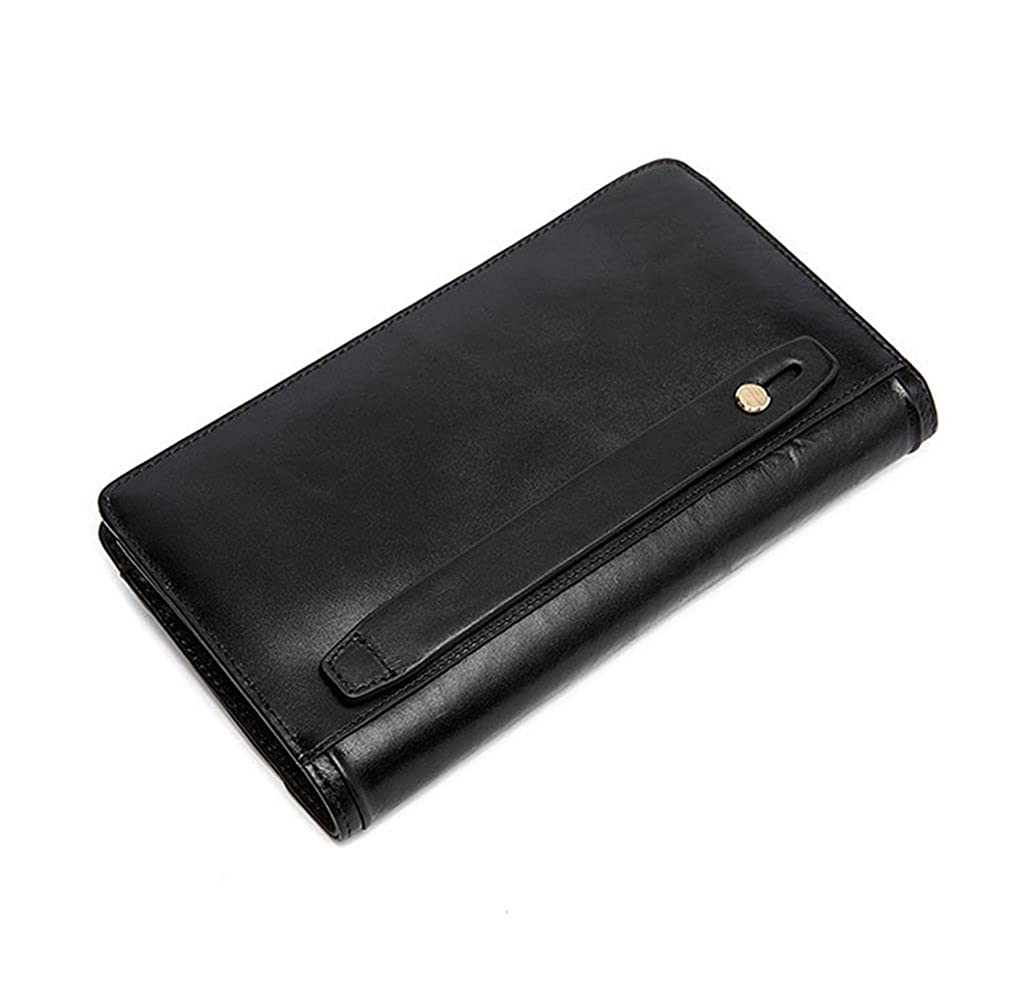 Mens Leather Wallet RFID Blocking Credit Card Holder Coin Pocket Purse 23x3x13CM,#1