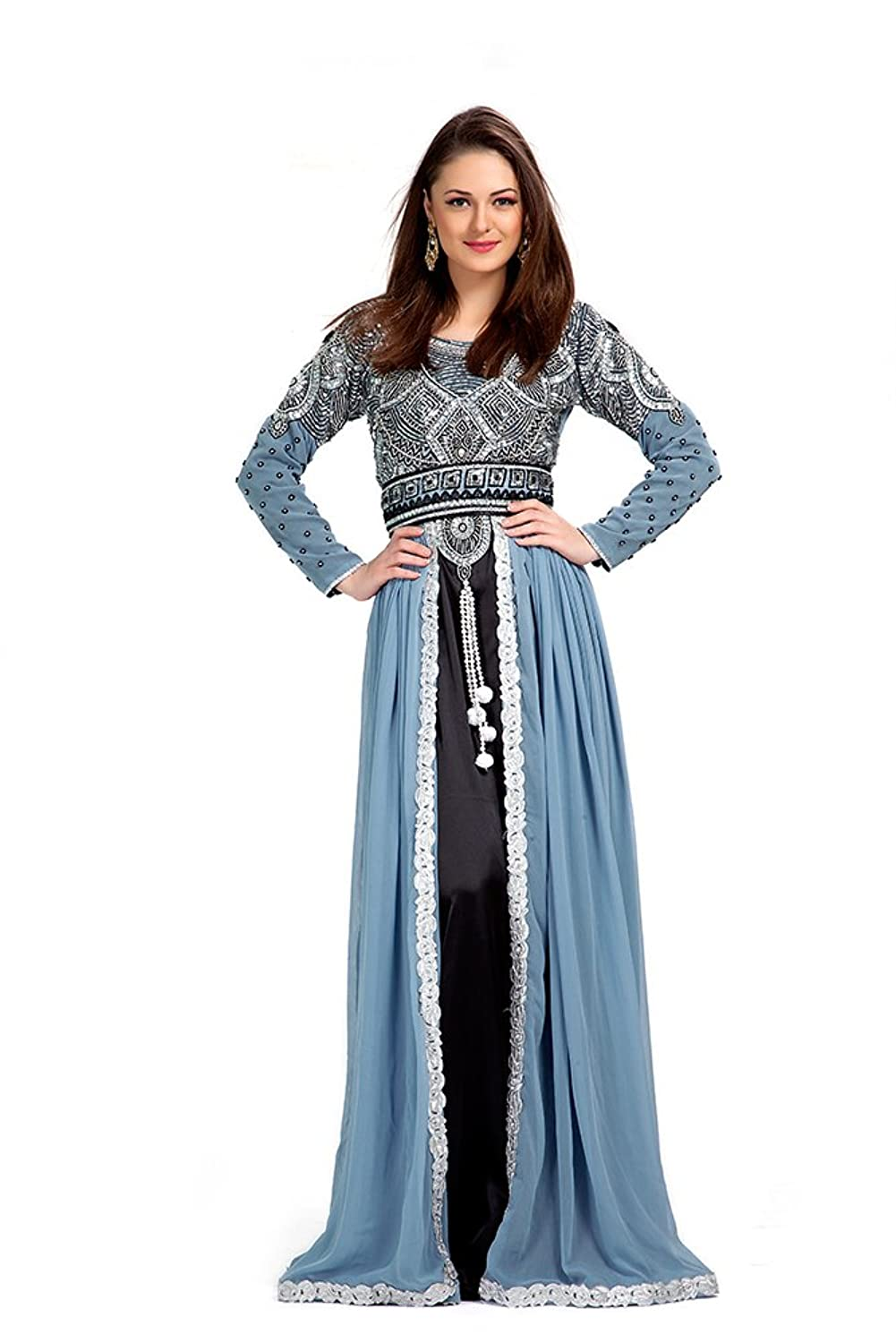 PalasFashion Moroccan Wedding Caftan Dress Women\'s KKPF1038: Amazon ...