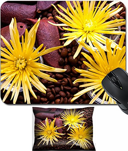MSD Mouse Wrist Rest and Small Mousepad Set, 2pc Wrist Support design 21393043 Spider Chrysanthemum Flower Arrangement for beauty treatment in spa