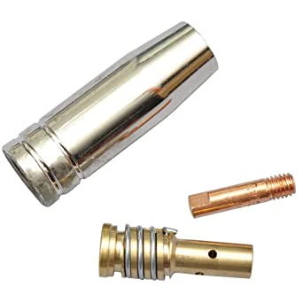 vidaXL Kit consommables pour postes à souder MIG 3 pièces buse bouchon tube  contact 375c1963bcda