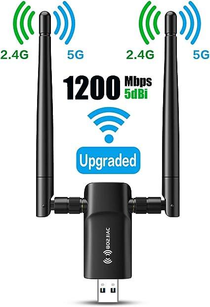 Amazon.com: Adaptador inalámbrico USB WiFi para PC – 802.11 ...