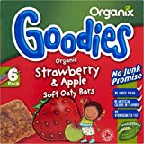 Organix Goodies Organic Soft Oaty Bars - Strawberry & Apple 12mth+ (6x30g) - Pack of 6