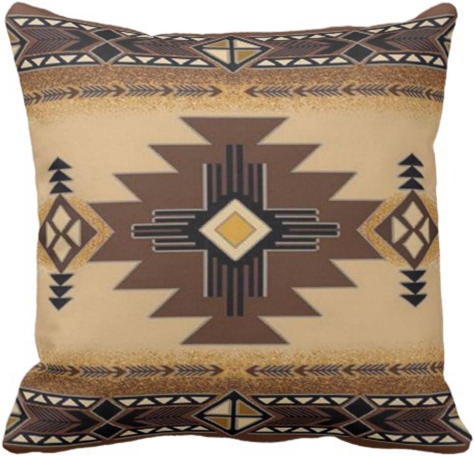 Emvency Throw Pillow Cover Browns Santa Fe Creams South Western Decorative Pillow Case Home Decor Square 20 x 20 Inch Pillowcase